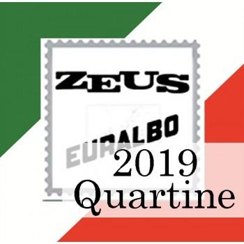 Fogli Italia 2019 Quartine - Euralbo