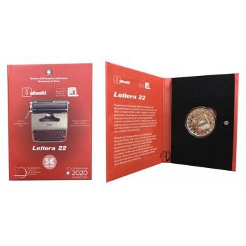 Italia - 2020 - 5€ Olivetti Rosso