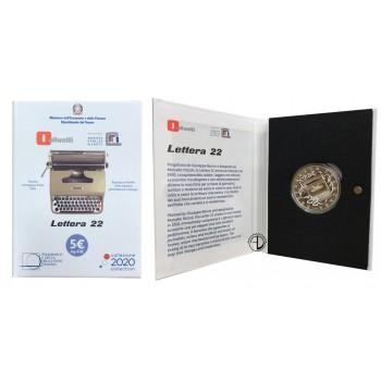 Italia - 2020 - 5€ Olivetti Bianco