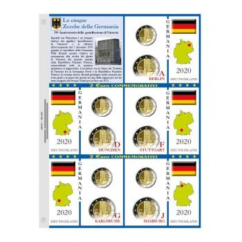 Abafil Fogli 2€ Germania 2020 5z. Varsavia
