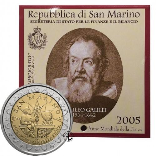 San Marino - 2005 - 2€ Galilei