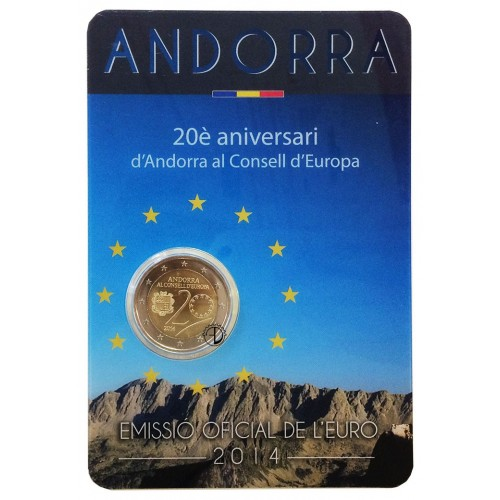 Andorra - 2014 - 2€ Consiglio d'Europa (in blister)