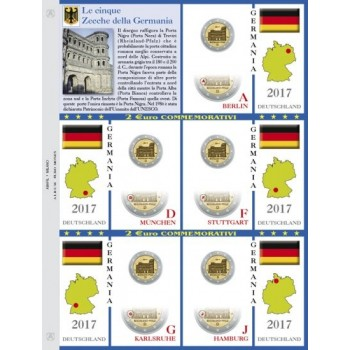 Abafil Fogli 2€ Germania 2017 5zecche Treviri