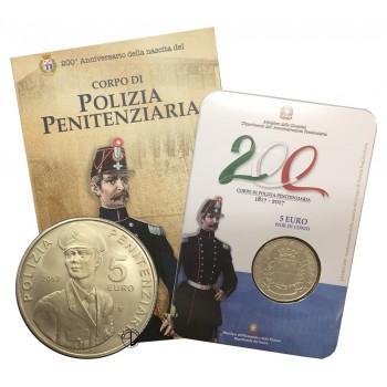 Italia - 2017 - 5€ Polizia Penitenziaria