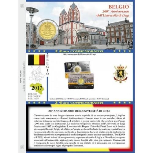 Abafil Foglio 2€ 2017 Belgio in Blister