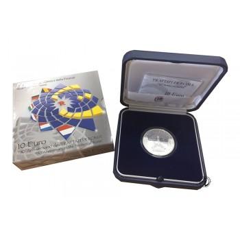 Italia - 2007 - 10€ Trattati di Roma PROOF