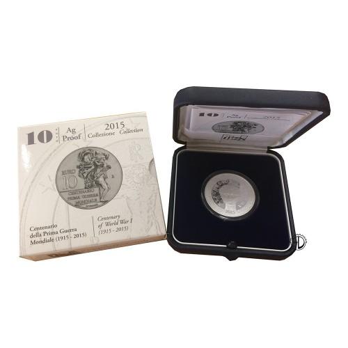 Italia - 2015 - 10€ 1° Guerra Mondiale PROOF