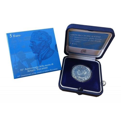 Italia - 2007 - 5€ Toscanini