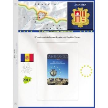 Abafil Foglio 2€ Comm. 2014 Andorra
