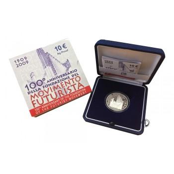 Italia - 2009 - 10€ Futurismo PROOF