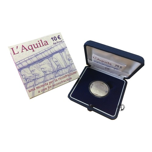 Italia - 2009 - 10€ L'Aquila PROOF