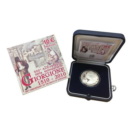 Italia - 2010 - 10€ Giorgione PROOF
