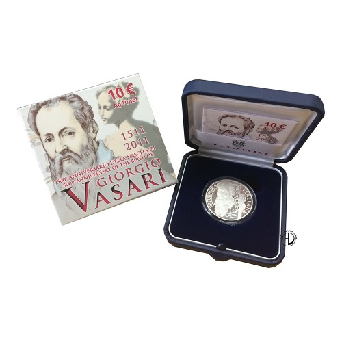 Italia - 2011 - 10€ Vasari PROOF