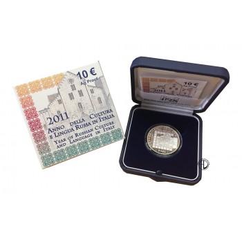 Italia - 2011 - 10€ Cultura Russa PROOF