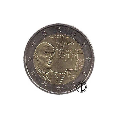 Francia - 2010 - 2€ Charles de Gaulle