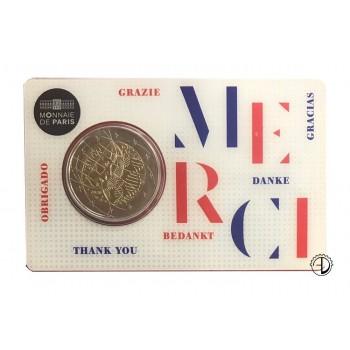 "Francia - 2020 - 2€ UNION (coincard ""Grazie"")"