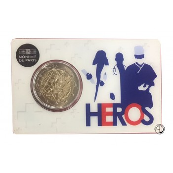 "Francia - 2020 - 2€ UNION (coincard ""Heros"")"