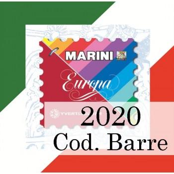 Fogli Italia 2020 Codici a Barre - V. Europa