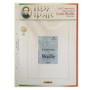 Foglio Italia 2€ 2009 Braille in Coincard - Abafil