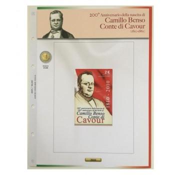 Foglio Italia 2€ 2010 Cavour in Coincard - Abafil