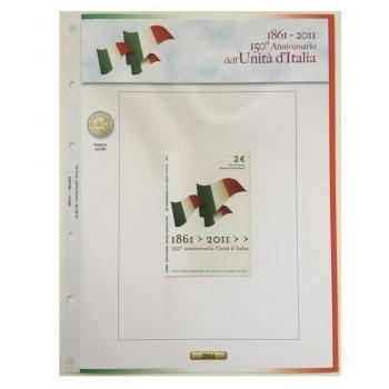 Foglio Italia 2€ 2011 Unità d'italia in Coincard - Abafil