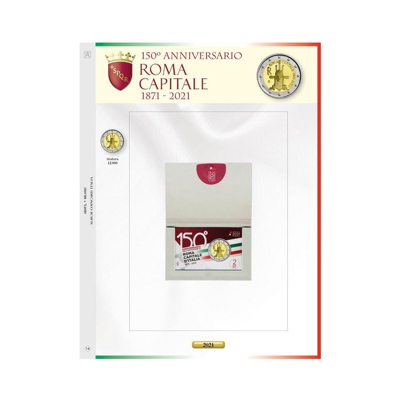 Foglio Italia 2€ 2021 Roma Capitale in Coincard - Abafil