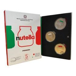 Italia - 2021 - 5€ Nutella Trittico