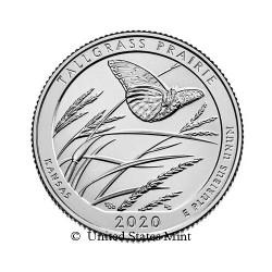 USA 1/4$ 2020 Tallgrass Prairie