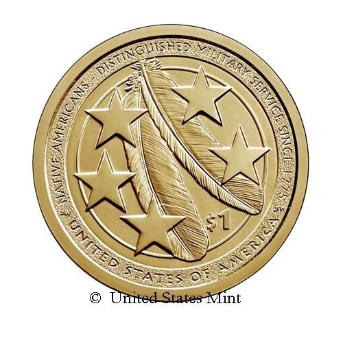 USA $ 2021 Nativi: Distintivo Servizio Militare