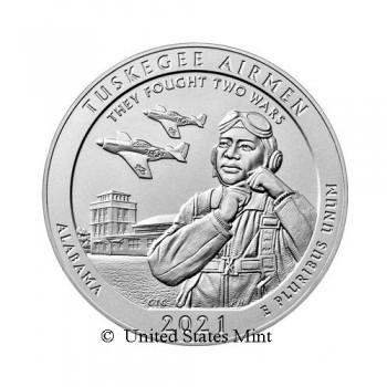 USA 1/4$ 2021 Tuskegee Airmen