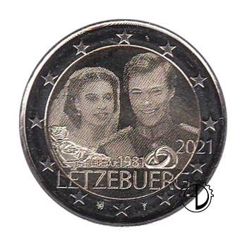 Lussemburgo - 2021 - 2€ Matrimonio OLOGRAFICO