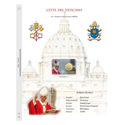 Abafil Fogli Vaticano Coincard 2021 Pontificato